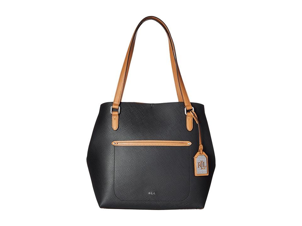 LAUREN Ralph Lauren - Lindley Alissa Tote (Black) Tote Handbags