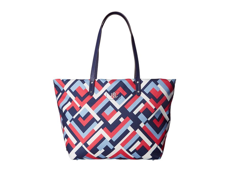 LAUREN Ralph Lauren - Bainbridge Tote (Marine Multi Geo) Tote Handbags