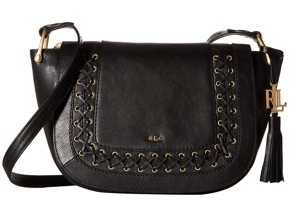 LAUREN Ralph Lauren - Ashfield Amari Saddle Bag (Black) Handbags