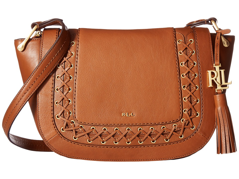 LAUREN Ralph Lauren - Ashfield Amari Saddle Bag (Field Brown) Handbags