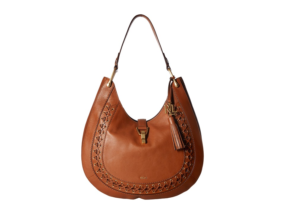 LAUREN Ralph Lauren - Ashfield Abree Hobo (Field Brown) Hobo Handbags