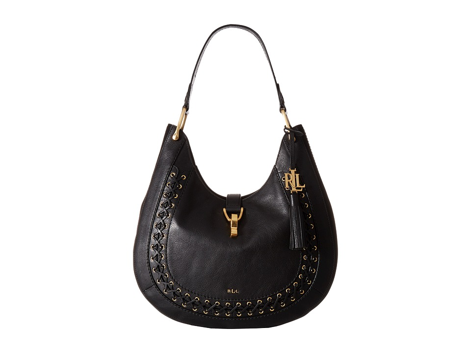 LAUREN Ralph Lauren - Ashfield Abree Hobo (Black) Hobo Handbags