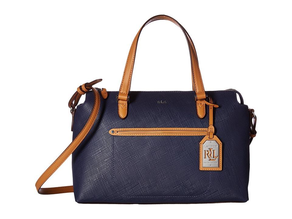 LAUREN Ralph Lauren - Lindley Addie Satchel (Marine) Satchel Handbags