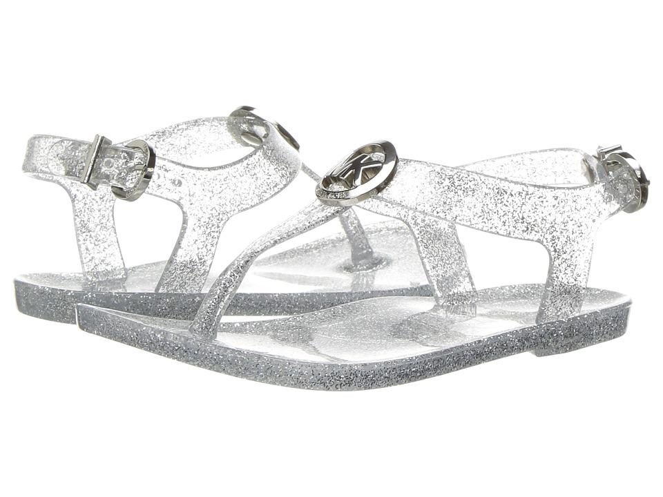 MICHAEL Michael Kors Kids - Jelly Myra (Toddler) (Silver Glitter) Girl's Shoes