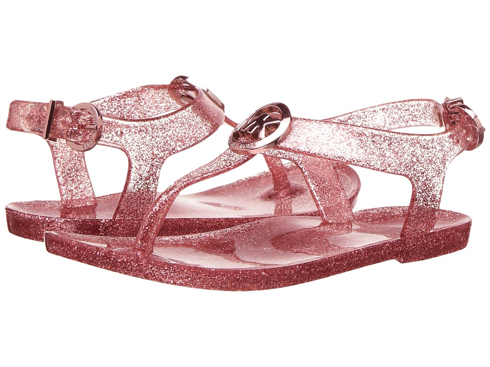 MICHAEL Michael Kors Kids - Jelly Myra (Toddler) (Rose Gold Glitter) Girl's Shoes