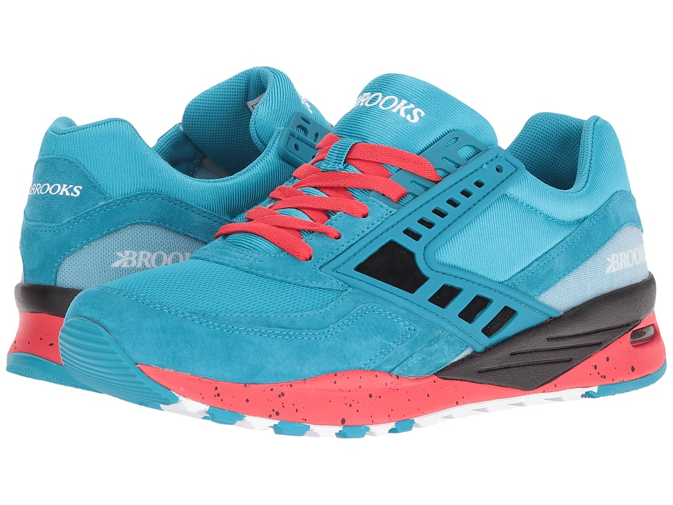 Brooks Heritage Regent (Caneel Blue/High Risk Red/Black) Men