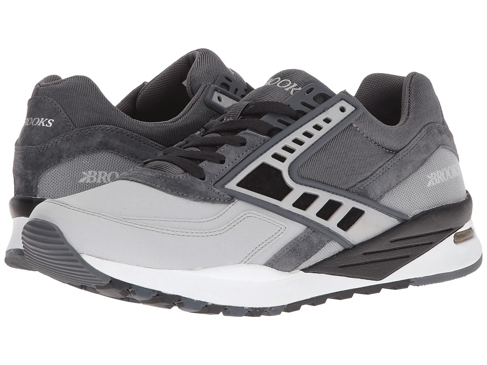 Brooks Heritage - Regent (Anthracite/Black/Silver Reflective) Men's Shoes