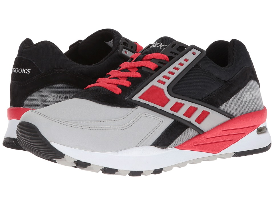 Brooks Heritage Regent (Black/High Risk Red/Silver Reflective) Men