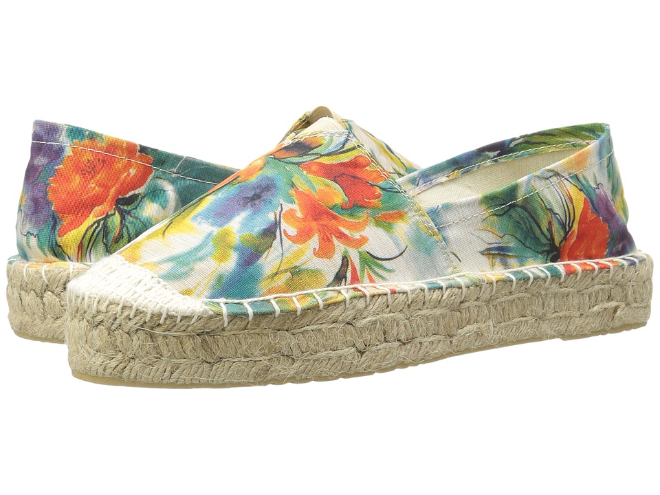 Dirty Laundry - Elson Espadrille (Blue Flower Fabric) Women's Slip on Shoes