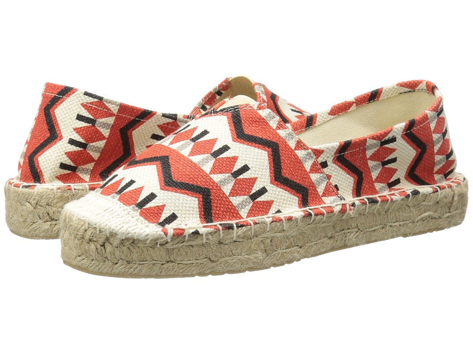 Dirty Laundry Elson Espadrille (Coral Tribal) Women