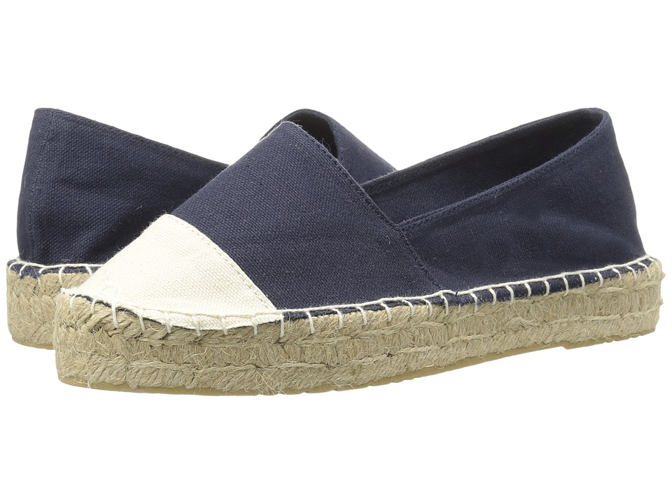 Dirty Laundry - Elliot Espadrille (Blue/Beige Canvas) Women's Slip on Shoes