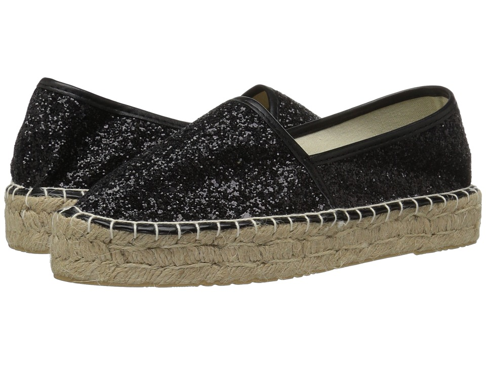 Dirty Laundry Emilio Espadrille (Black Glitter) Women