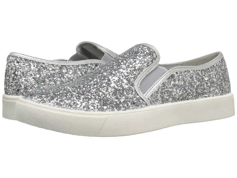 Dirty Laundry - Elwood (Silver Glitter) Women's Slip on Shoes