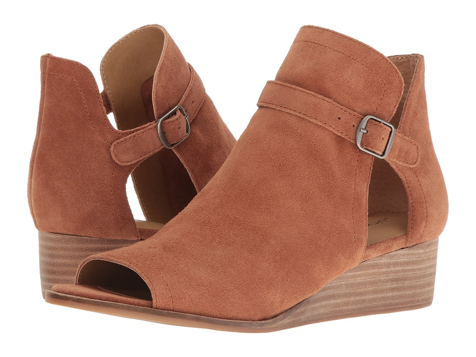 Lucky Brand - Reemas (Toffee Oiled Suede) Women's Wedge Shoes