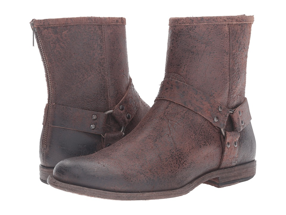 Frye - Phillip Harness (Brown) Men's Pull-on Boots