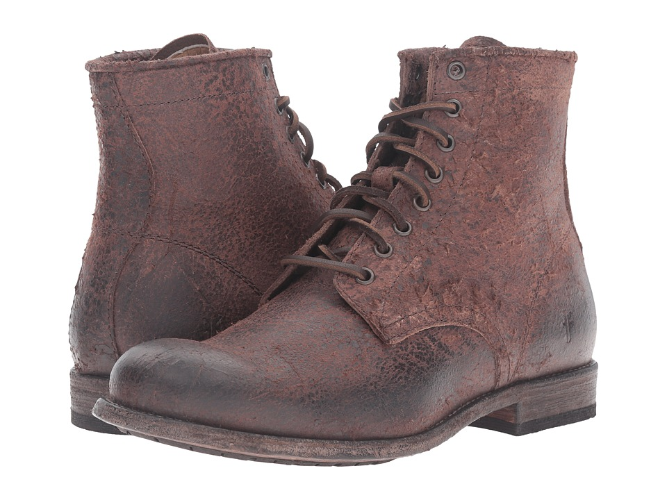 Frye - Tyler Lace-Up (Brown) Men's Shoes