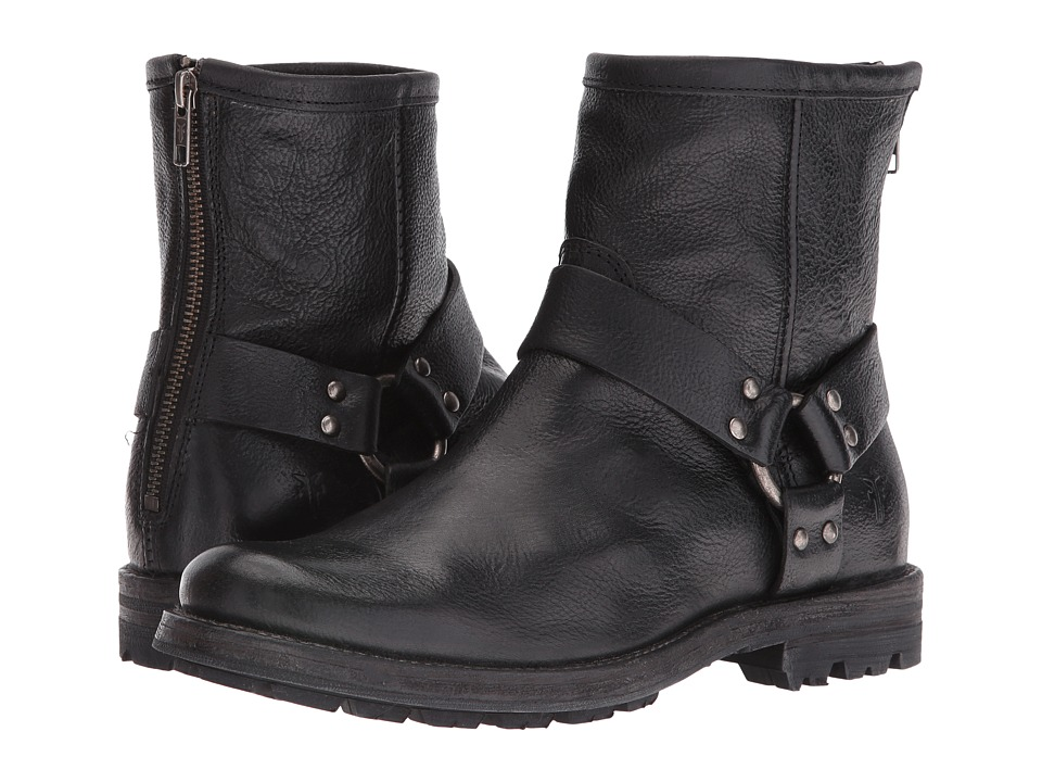 Frye - Phillip Lug Harness (Black) Men's Shoes