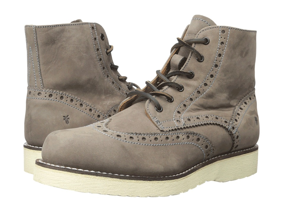 Frye - Arkansas Wedge Wingtip (Charcoal) Men's Lace up casual Shoes