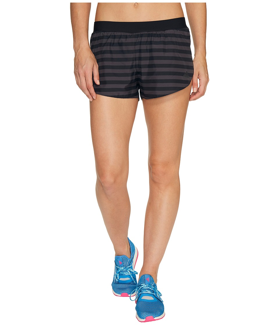 adidas - adiZero Split Shorts (Black/Utility Black) Women's Shorts
