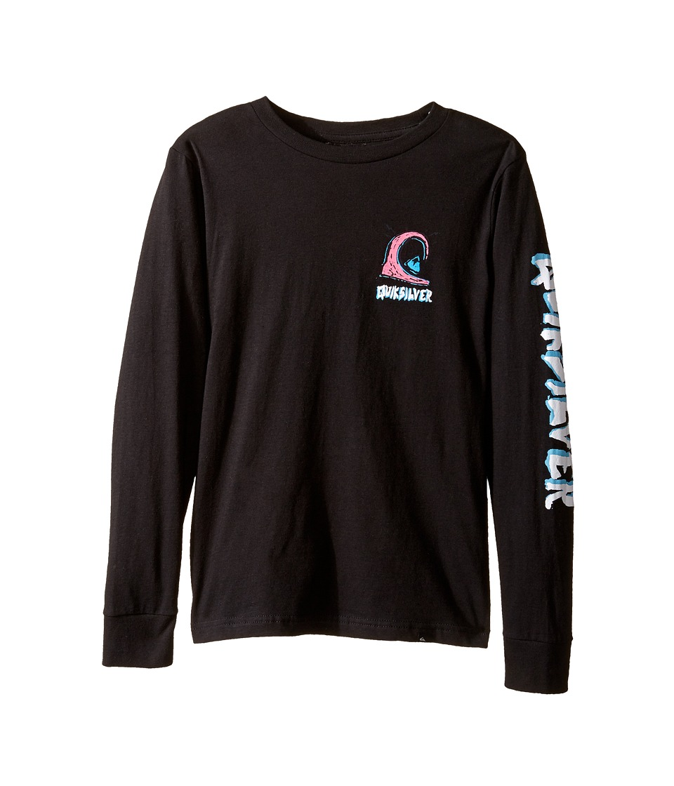 Quiksilver Kids - Action 1 Long Sleeve Screen Tee (Big Kids) (Black) Boy's T Shirt