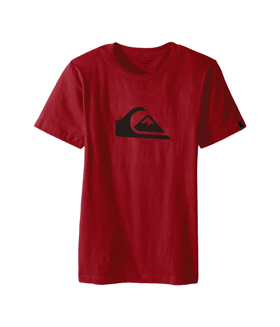 Quiksilver Kids - Mountain Wave Logo Screen Tee (Big Kids) (Garnet) Boy's T Shirt