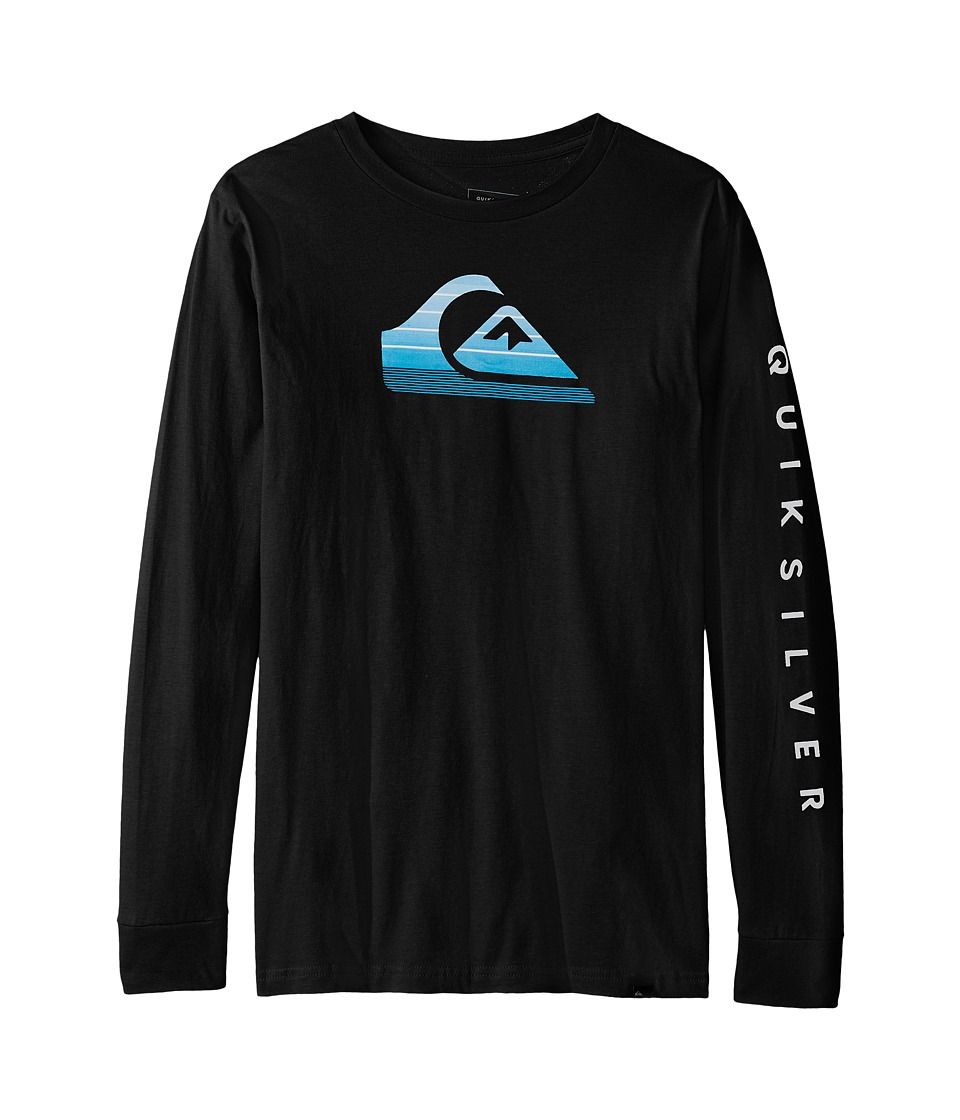 Quiksilver Kids - Milk Money Long Sleeve Screen Tee (Big Kids) (Black) Boy's T Shirt