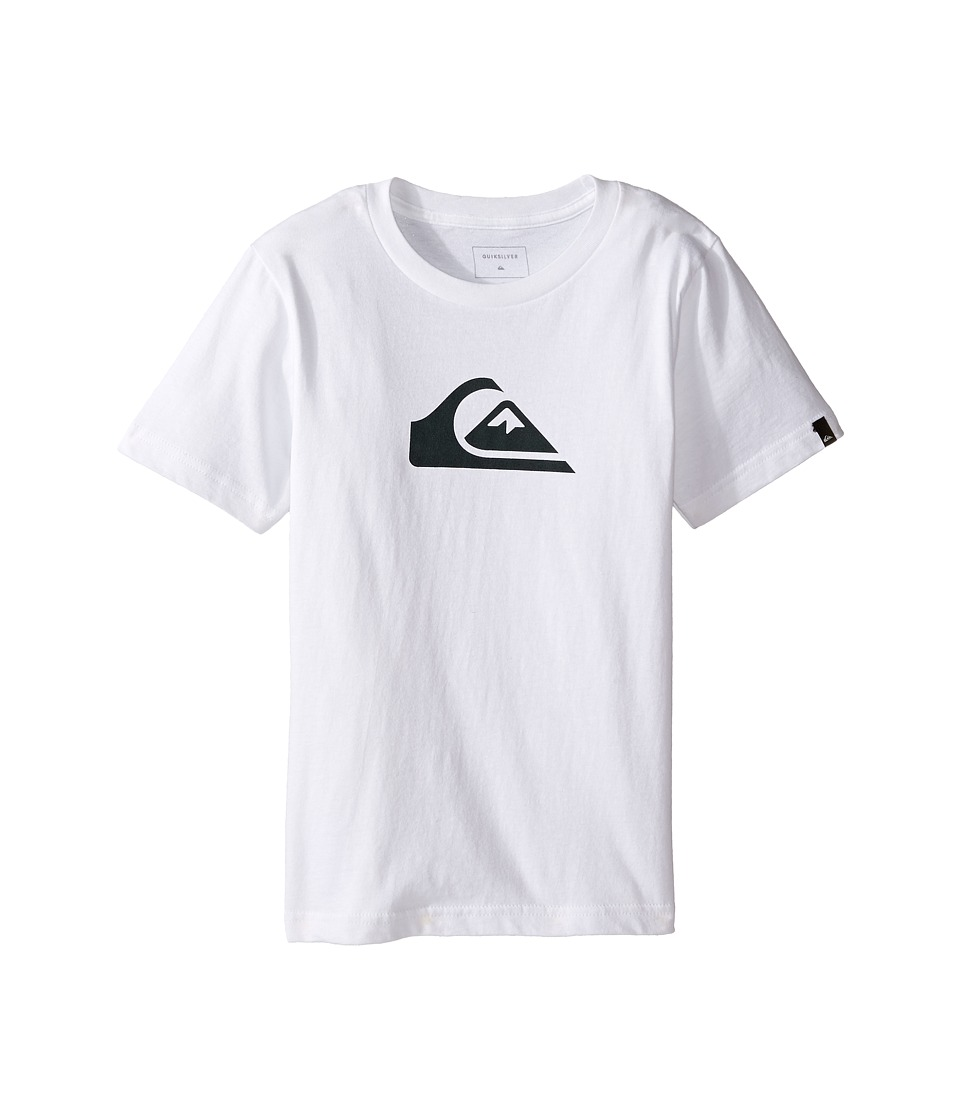 Quiksilver Kids - Mountain Wave Logo Screen Tee (Toddler/Little Kids) (White) Boy's T Shirt