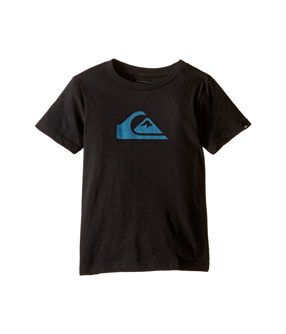Quiksilver Kids - Mountain Wave Logo Screen Tee (Toddler/Little Kids) (Black) Boy's T Shirt