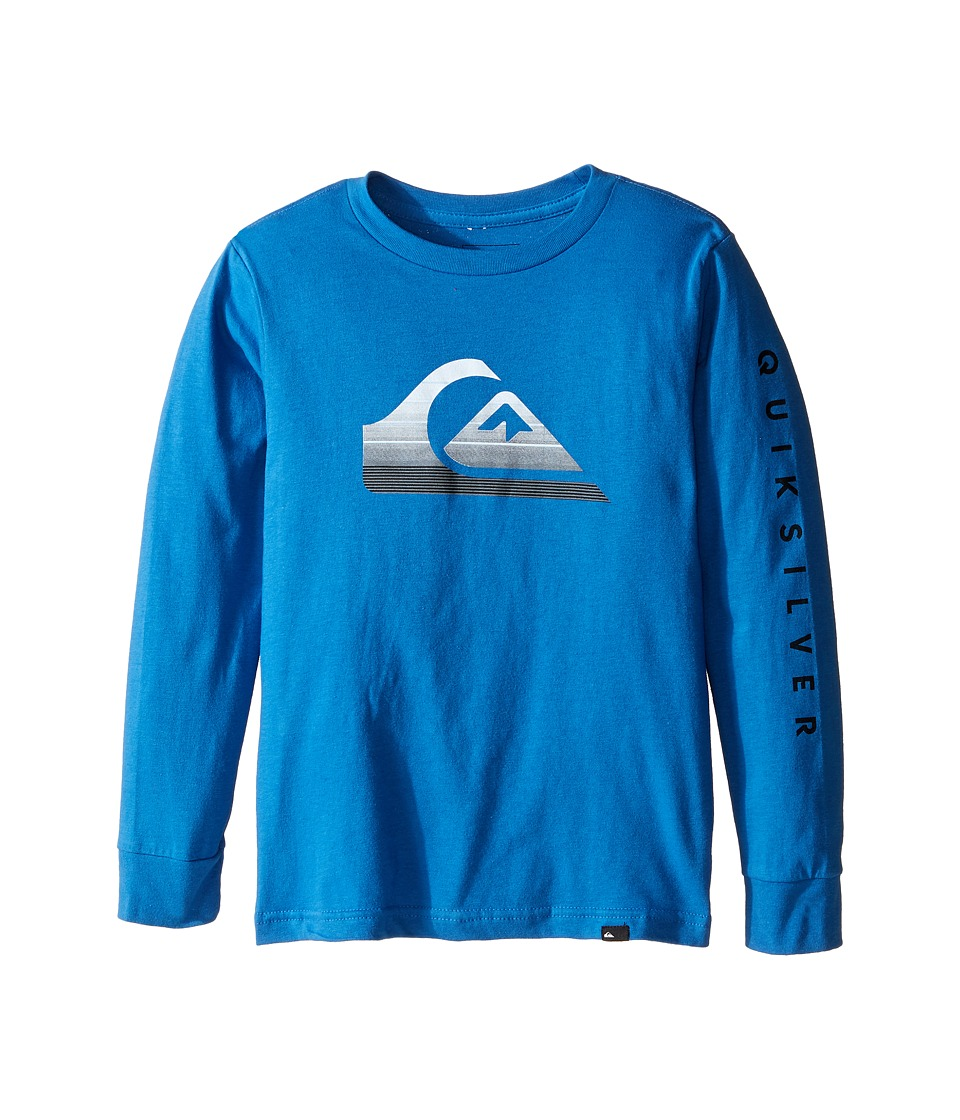 Quiksilver Kids - Milk Money Long Sleeve Screen Tee (Toddler/Little Kids) (Star Sapphire) Boy's T Shirt