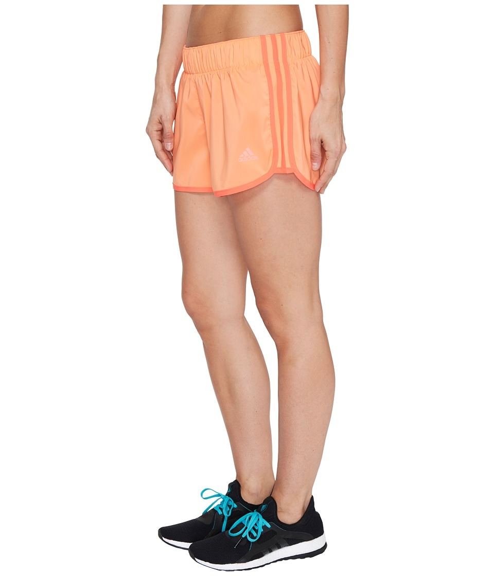 adidas - Woven 3-Stripes Shorts (Easy Orange/Easy Coral) Women's Shorts