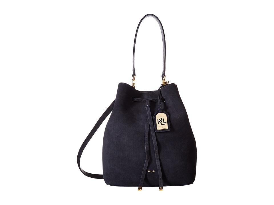 LAUREN Ralph Lauren - Dryden Debby Drawstring (Navy) Drawstring Handbags