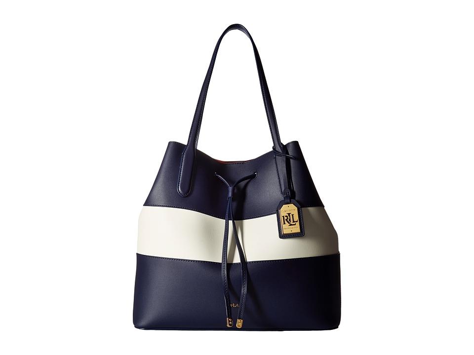 LAUREN Ralph Lauren - Dryden Diana Tote (Marine/Vanilla/Red) Tote Handbags
