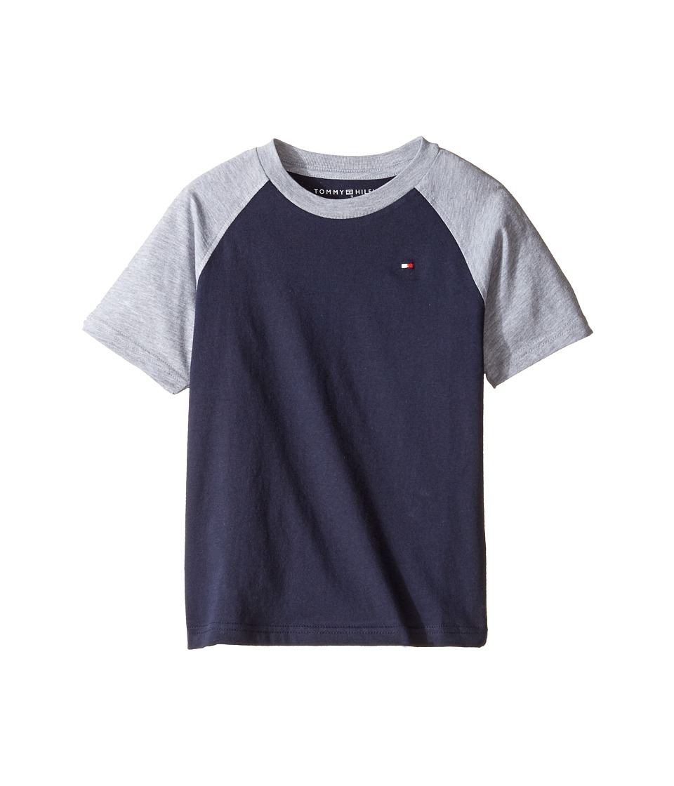 Tommy Hilfiger Kids - Gordon Short Sleeve Raglan Tee (Toddler/Little Kids) (TH Swim Navy) Boy's T Shirt