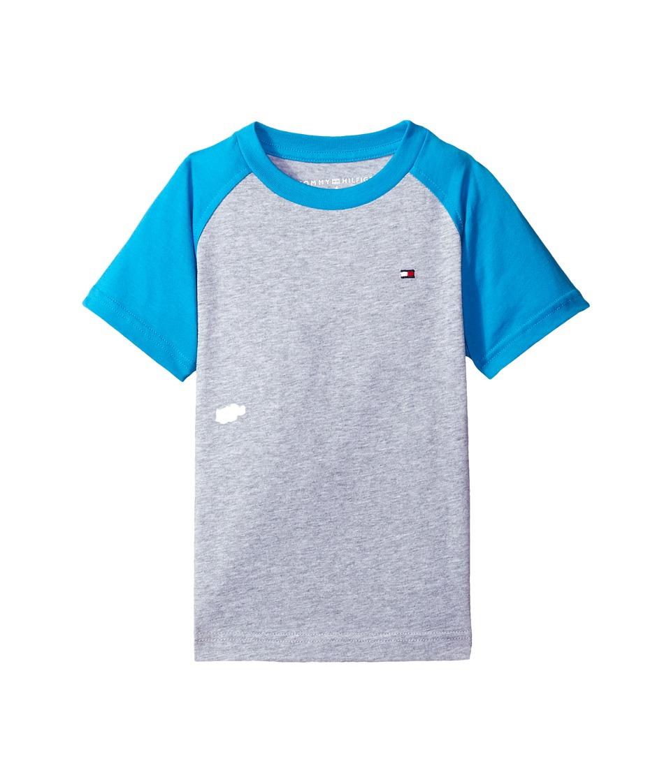 Tommy Hilfiger Kids - Gordon Short Sleeve Raglan Tee (Toddler/Little Kids) (TH Grey Heather) Boy's T Shirt