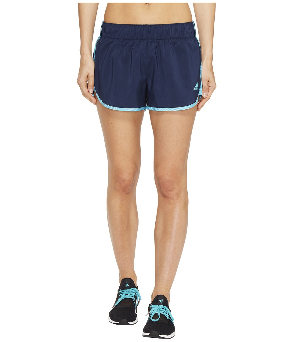adidas - M10 Energy Print Shorts (Collegiate Navy) Women's Shorts