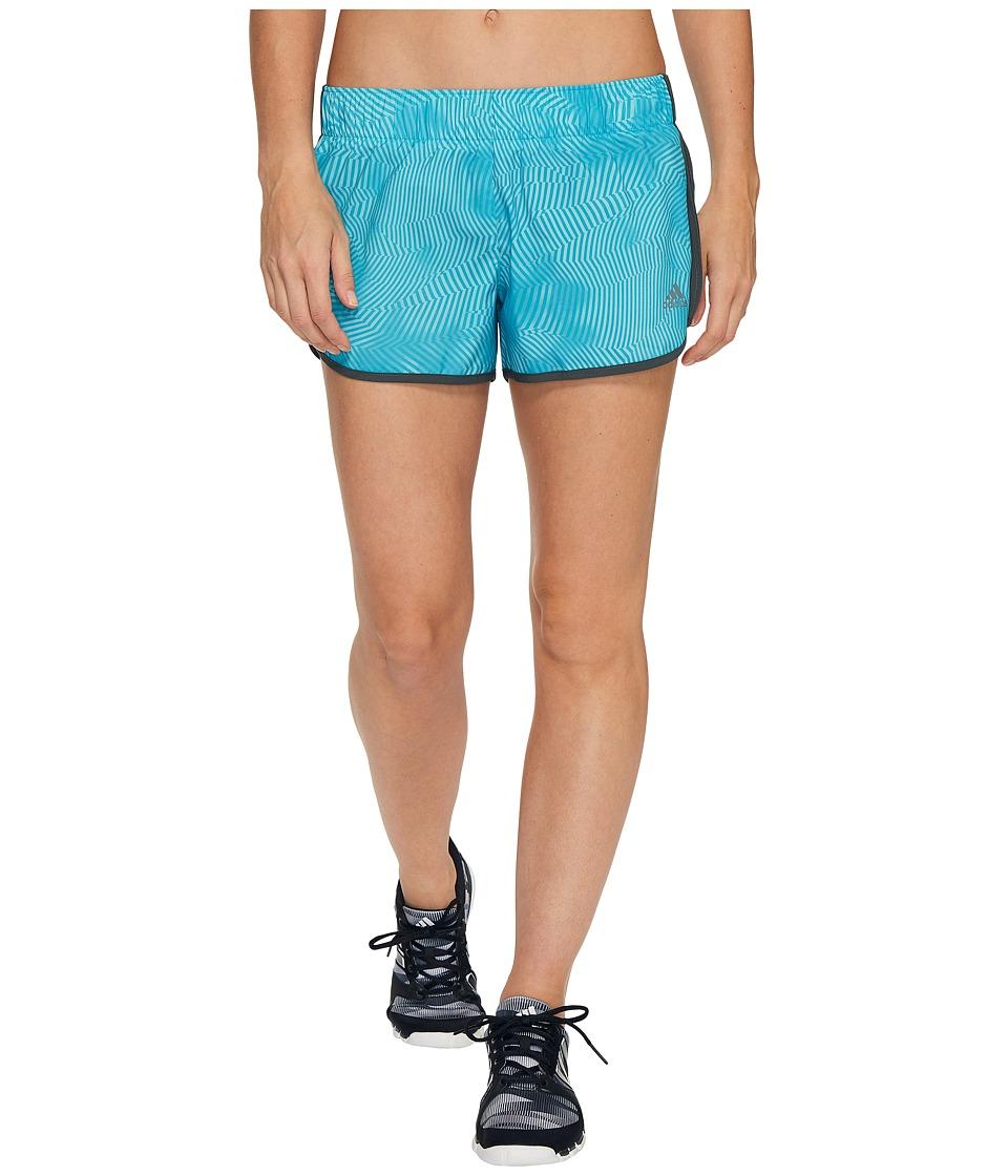 adidas - M10 Energy Print Shorts (Energy Blue) Women's Shorts