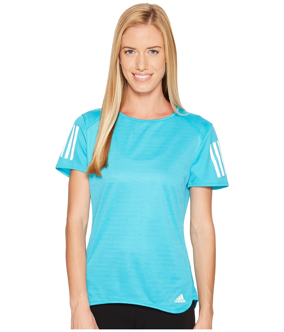 adidas - Response Short Sleeve Tee (Energy Blue) Women's Short Sleeve Pullover