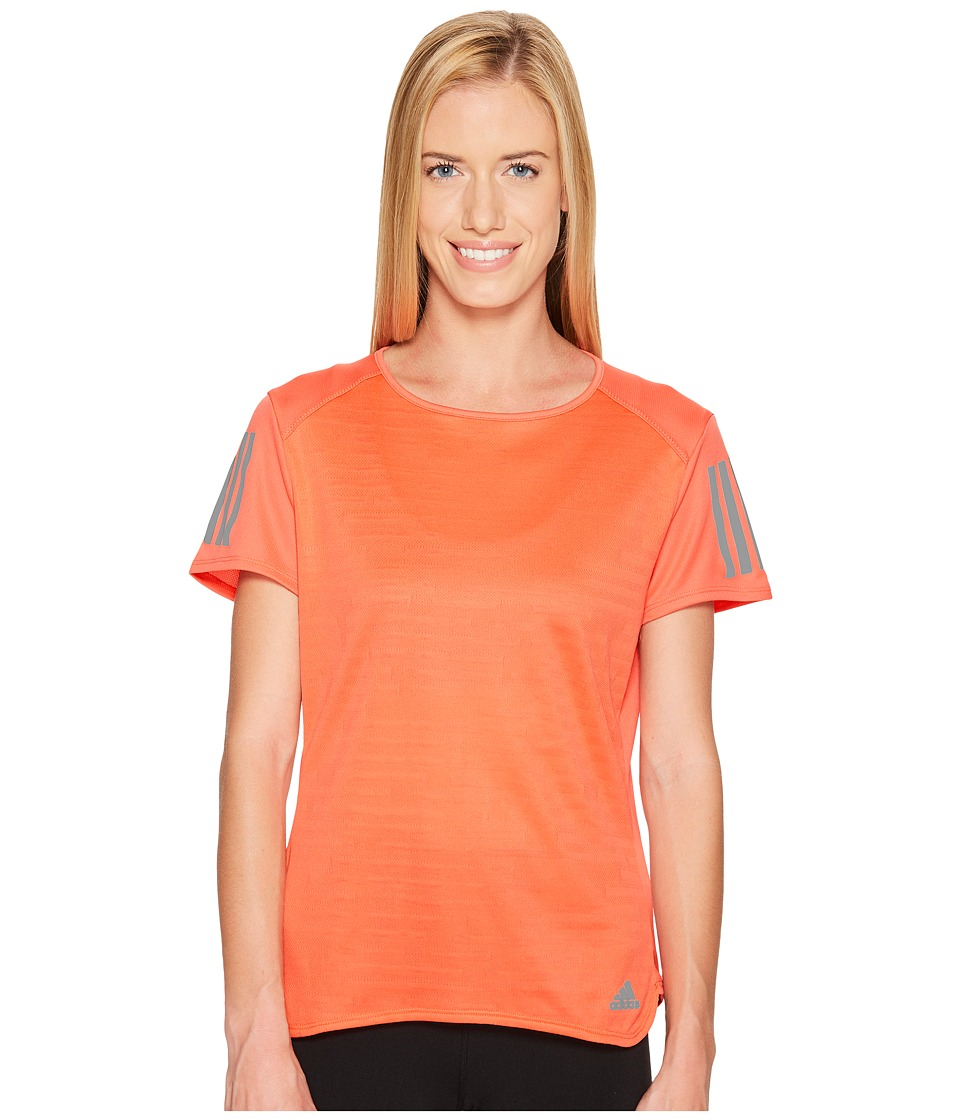 adidas - Response Short Sleeve Tee (Easy Coral) Women's Short Sleeve Pullover