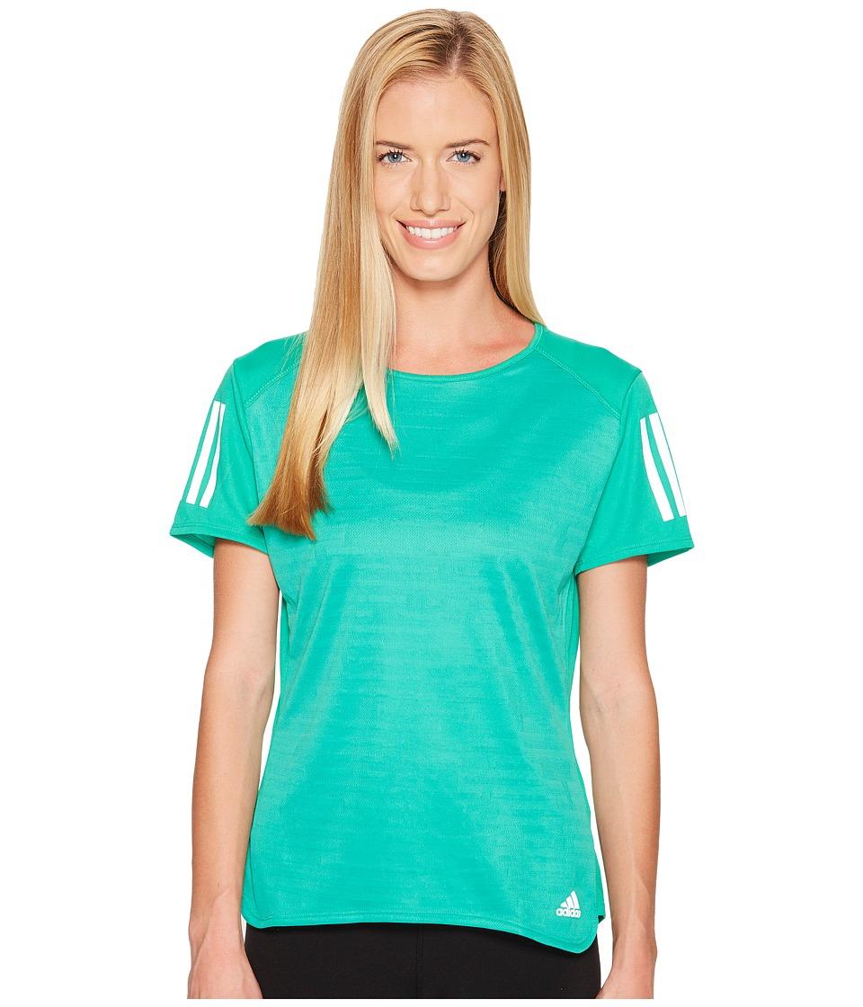 adidas - Response Short Sleeve Tee (Core Green) Women's Short Sleeve Pullover