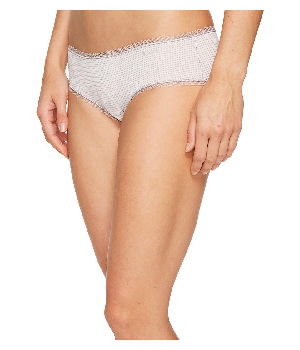 DKNY Intimates - Litewear Low Rise Hipster (White Drafting Dot) Women's Underwear