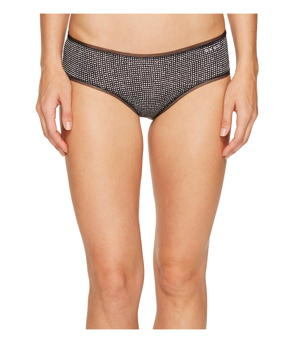 DKNY Intimates - Litewear Low Rise Hipster (Black Drafting Dot) Women's Underwear