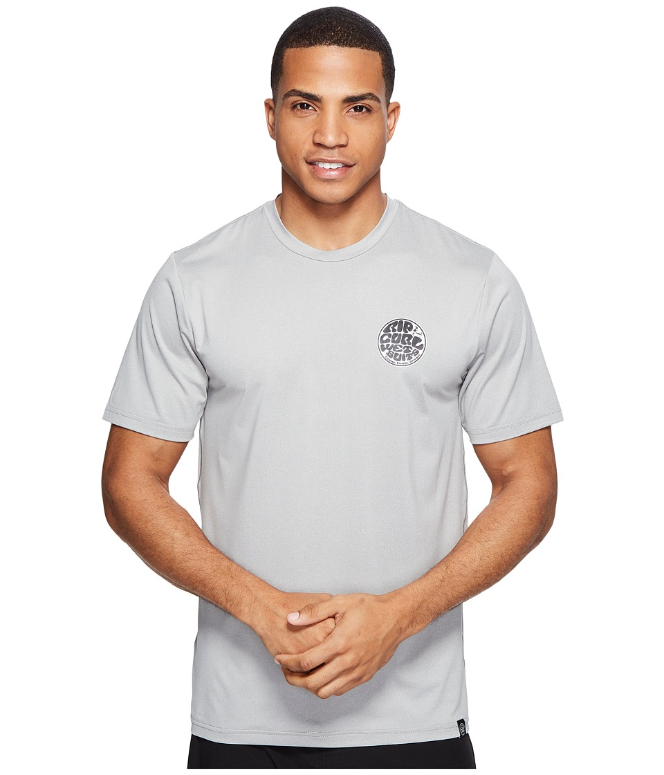 Rip Curl - Aggrolite Surf Shirt Short Sleeve (Grey) Men's Swimwear