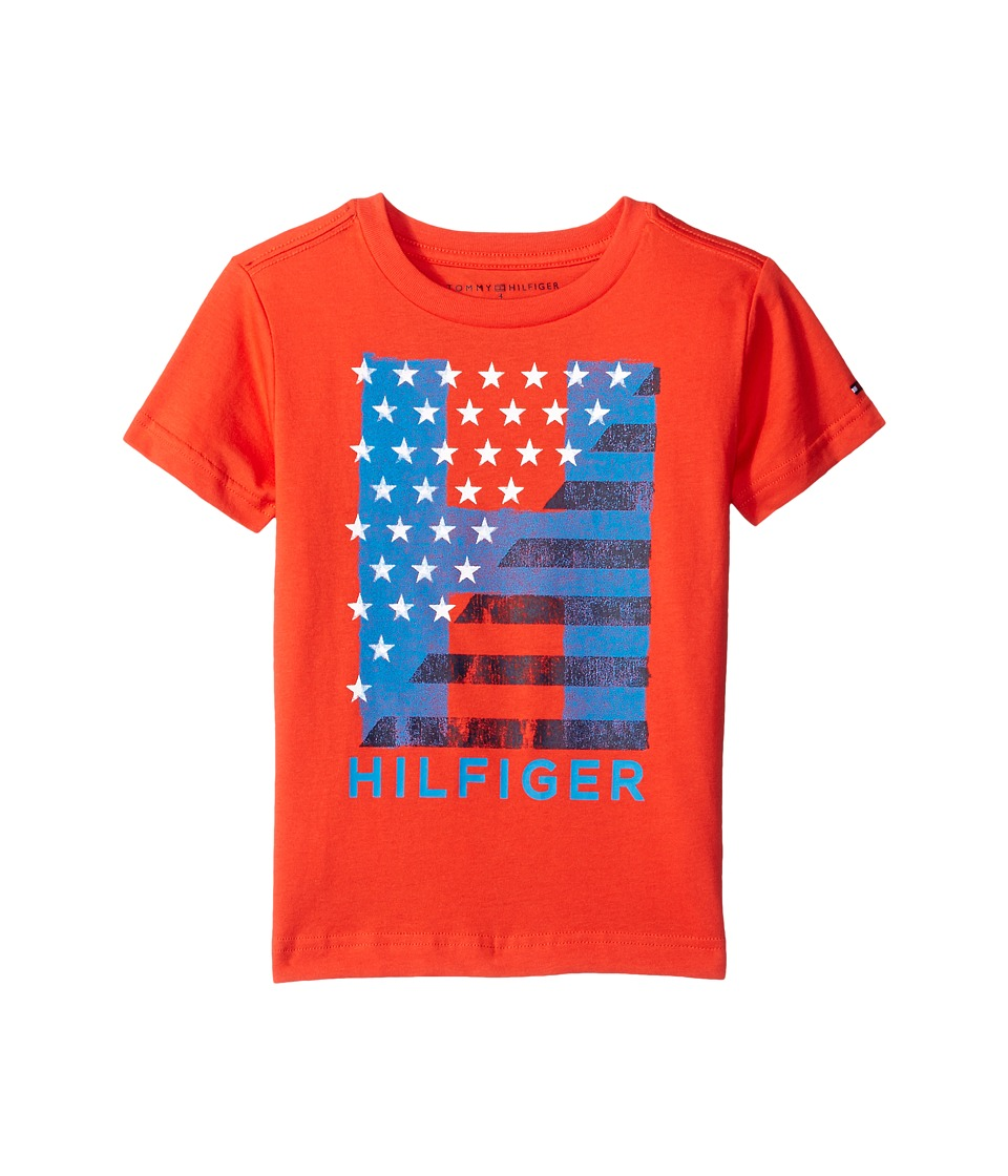 Tommy Hilfiger Kids - Homeroom Tee (Toddler/Little Kids) (Holly Red) Boy's T Shirt