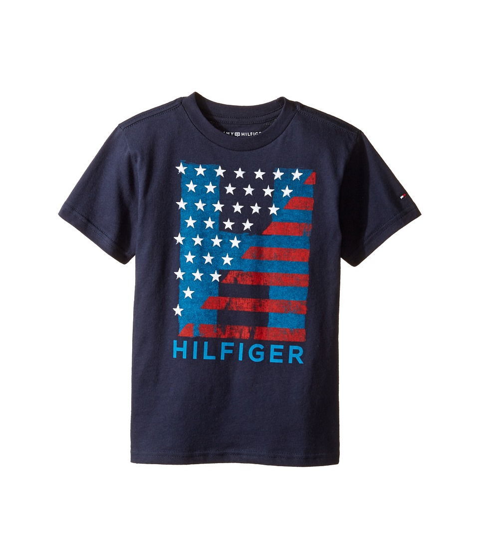 Tommy Hilfiger Kids - Homeroom Tee (Toddler/Little Kids) (TH Swim Navy) Boy's T Shirt