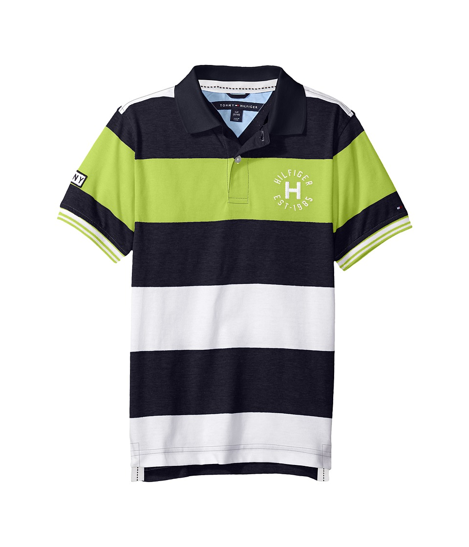 Tommy Hilfiger Kids - Samson Polo (Big Kids) (Swim Navy) Boy's Short Sleeve Knit
