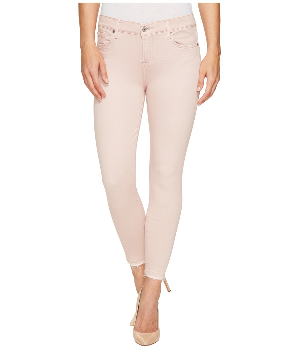 7 For All Mankind - The Ankle Skinny w/ Released Hem in Sand Washed Twill (Sand Washed Twill) Women's Jeans