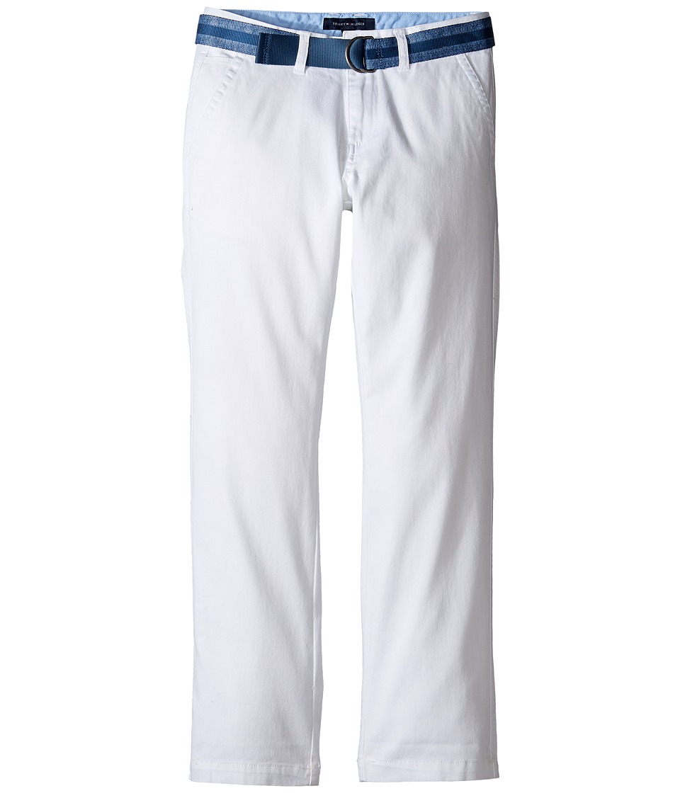 Tommy Hilfiger Kids - Dagger Stretch Twill Pants (Big Kids) (White) Boy's Shorts