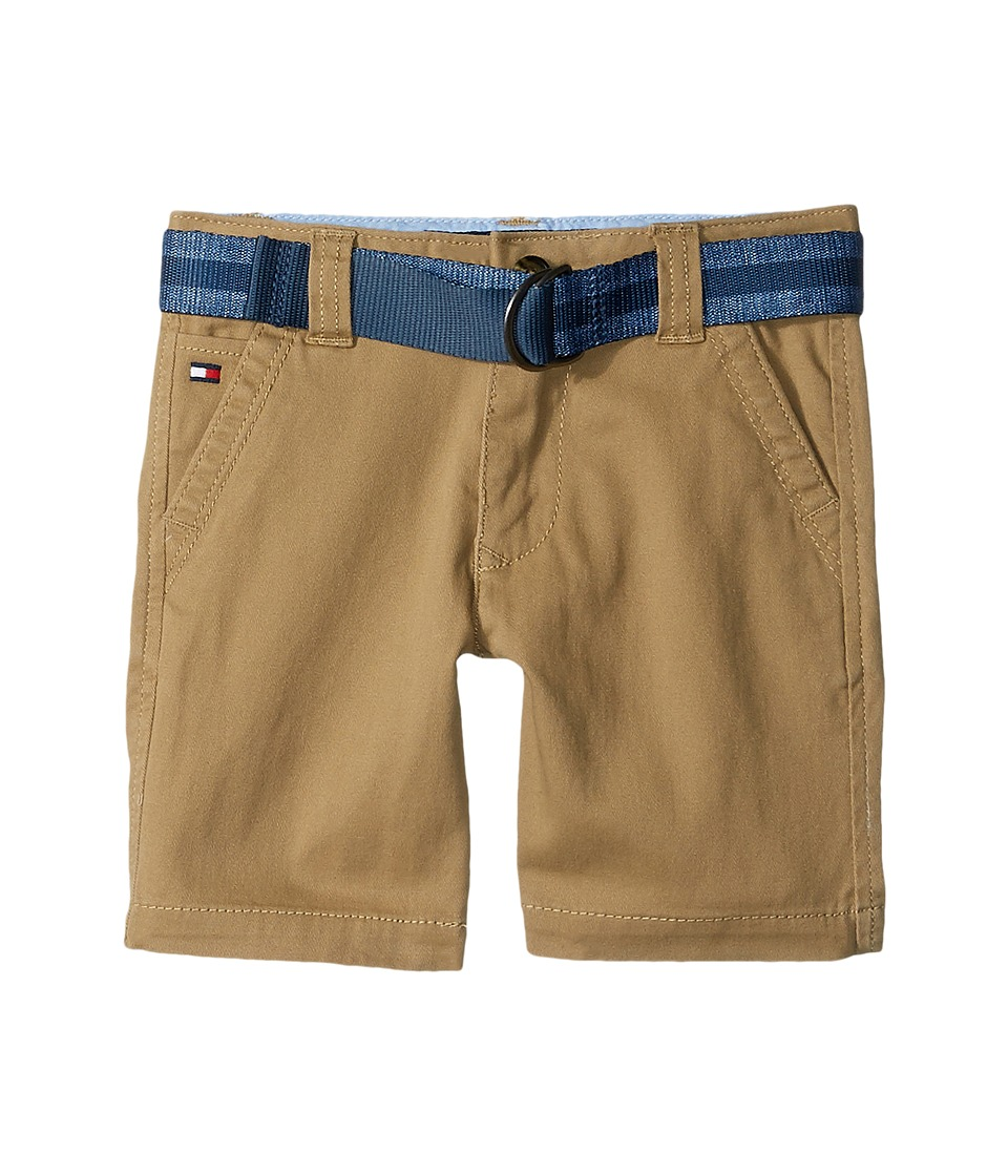 Tommy Hilfiger Kids - Dagger Stretch Twill Shorts (Toddler/Little Kids) (Chino) Boy's Shorts