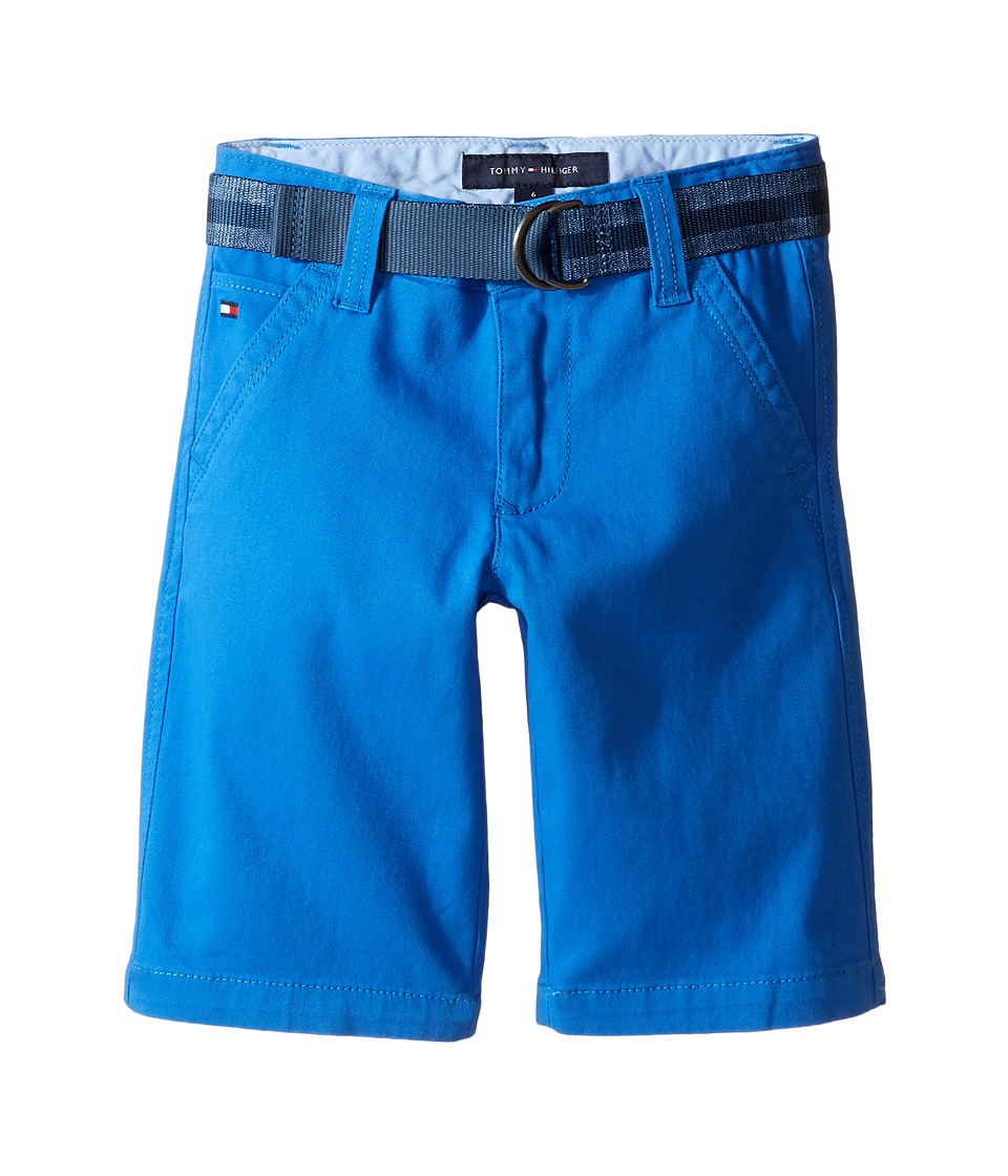 Tommy Hilfiger Kids - Dagger Stretch Twill Shorts (Toddler/Little Kids) (Bikini Blue) Boy's Shorts