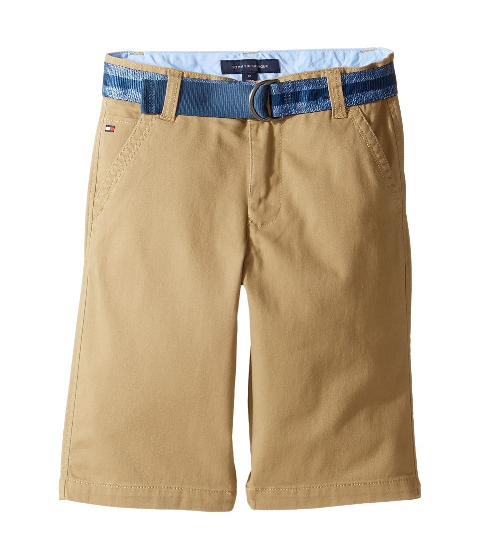 Tommy Hilfiger Kids - Dagger Stretch Twill Shorts (Big Kids) (Chino) Boy's Shorts